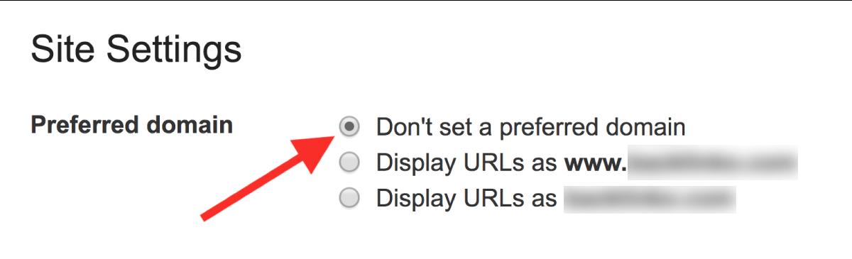 تنظیم preferred domain در گوگل وبمستر تولز