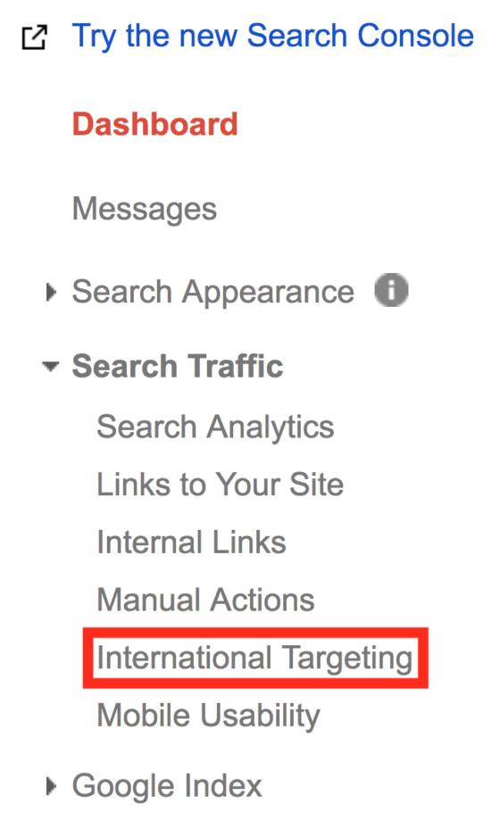 تنظیم کردن target country در گوگل وبمستر تولز