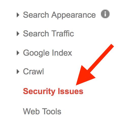 بررسی امنیت سایت در با گوگل وبمستر