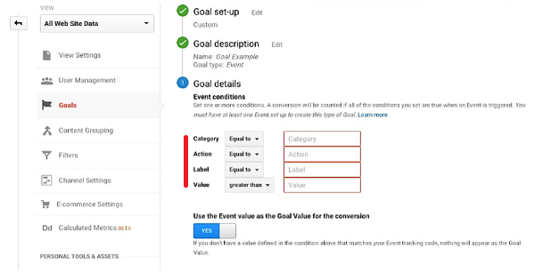 set event in google analytics